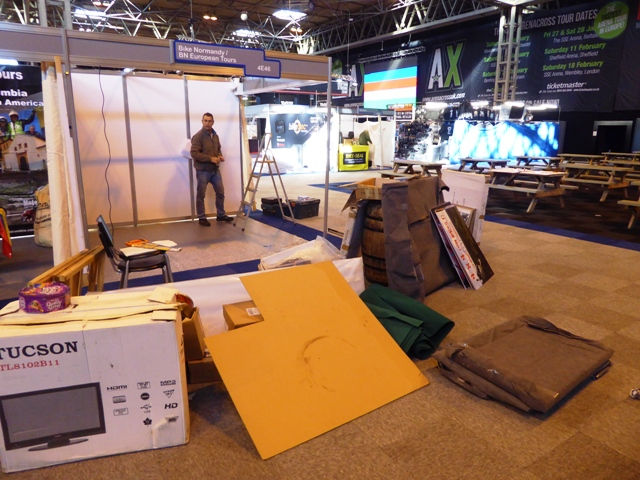 At the NEC we start with an empty space...