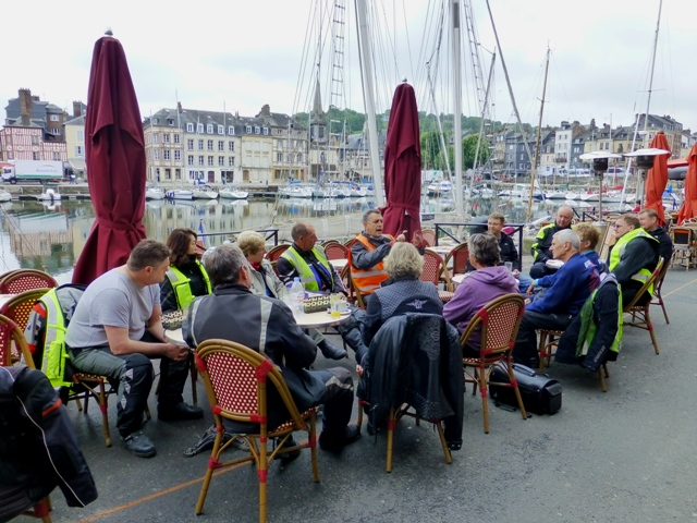 We start the Tour with breakfast in Honfleur