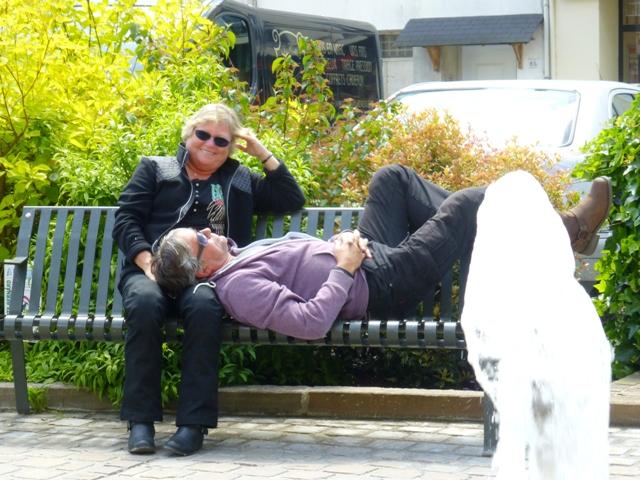 Kari & Malcolm relaxing