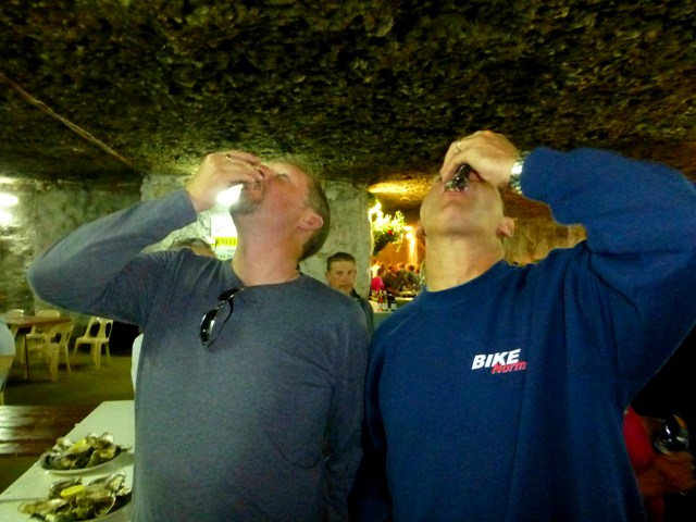 John Y & John E tasting oysters!