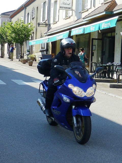Tristan on his Kawasaki ZZR 1200