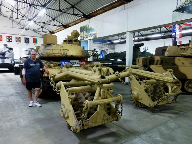 Steve by an AMX 30 EBD Mine Clearer