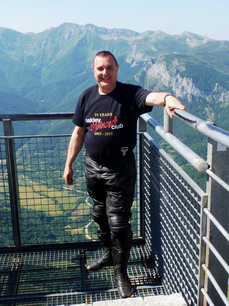 Paul on top of Fuente De