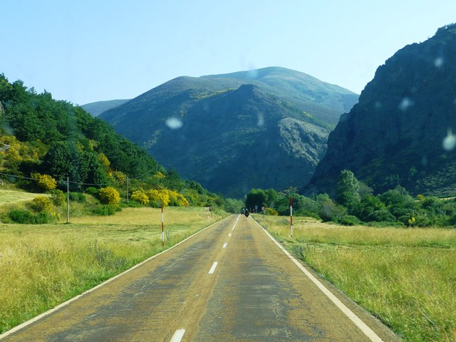 Heading into the Picos de Europa Mountains