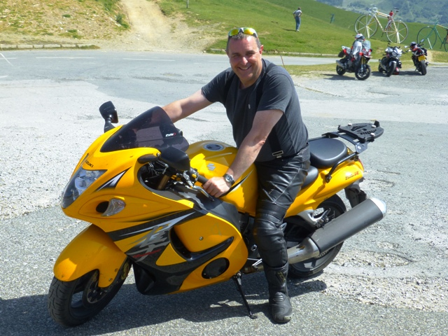 Paul decides to move his Hayabusa !
