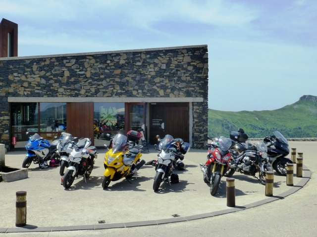 Bikes parked up at the top