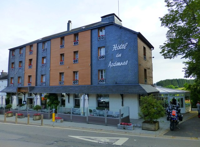 Our hotel in the Ardennes