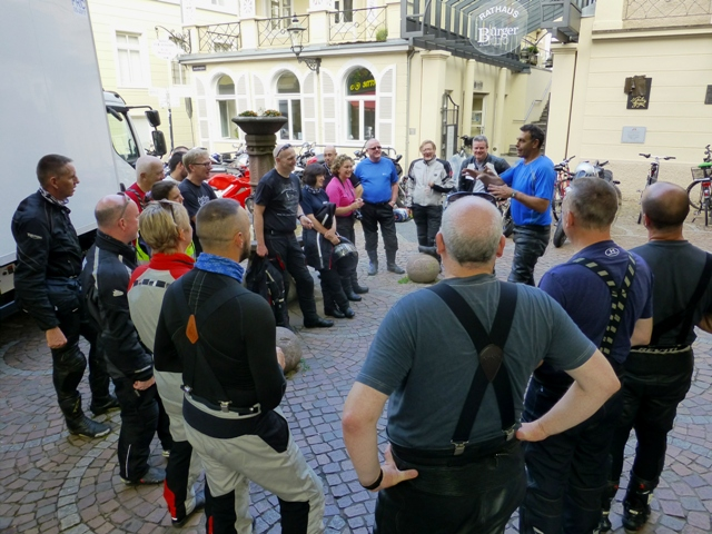A briefing before we ride the famous B500