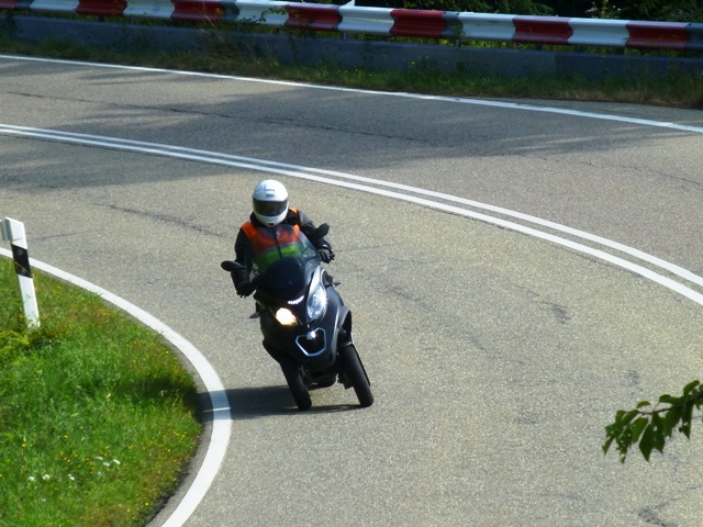 Andy W on his Piaggio MP3 500