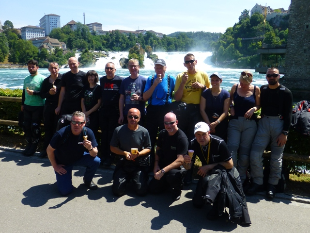 Most of the group visit the High Rhine Waterfalls in Switzerland