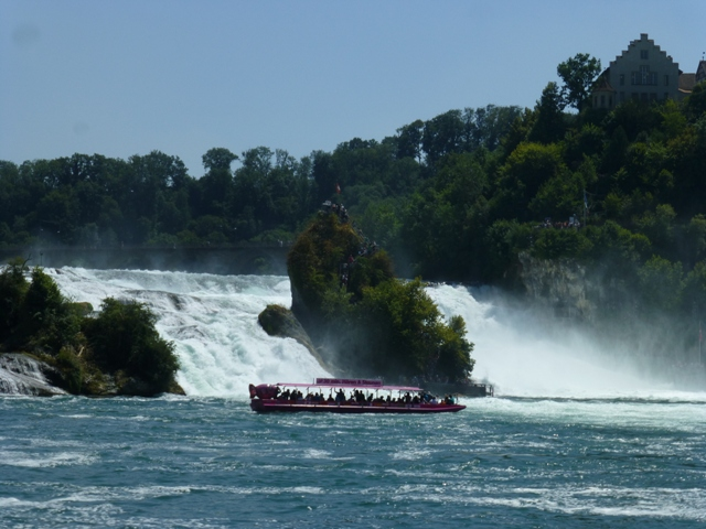 Only Alan took the boat ride to the middle of the Falls