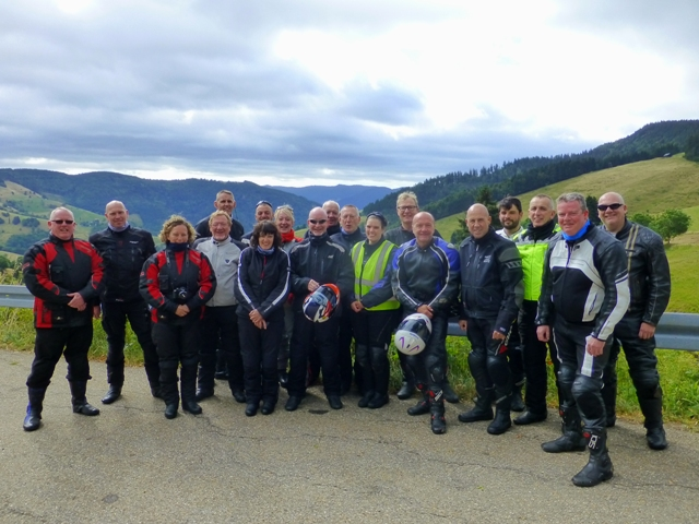 The Group in the Black Forest - another good mix of regulars & new guests made for a great trip