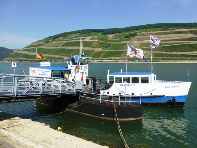 Then the boat across to Rudesheim