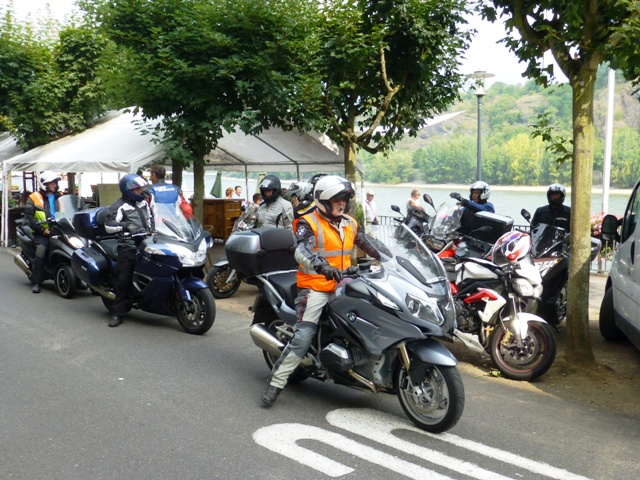Most of the bikes join the ride-out