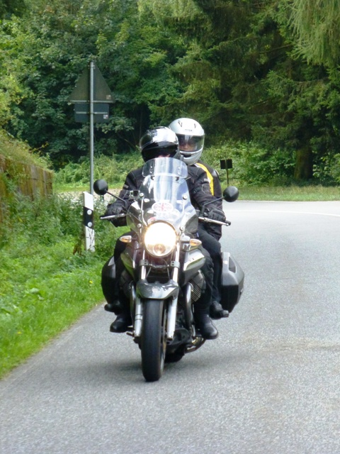 Gordon & Sue on their Moto Guzzi Breva