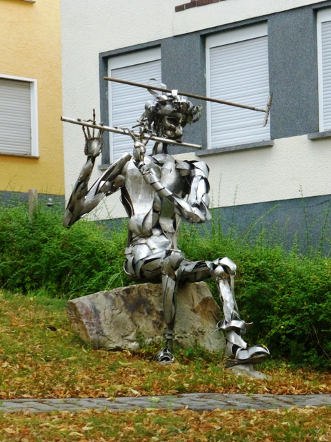 Sculpture seen in village