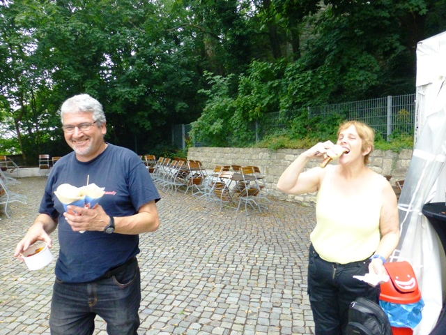 Sue gets her bratwurst