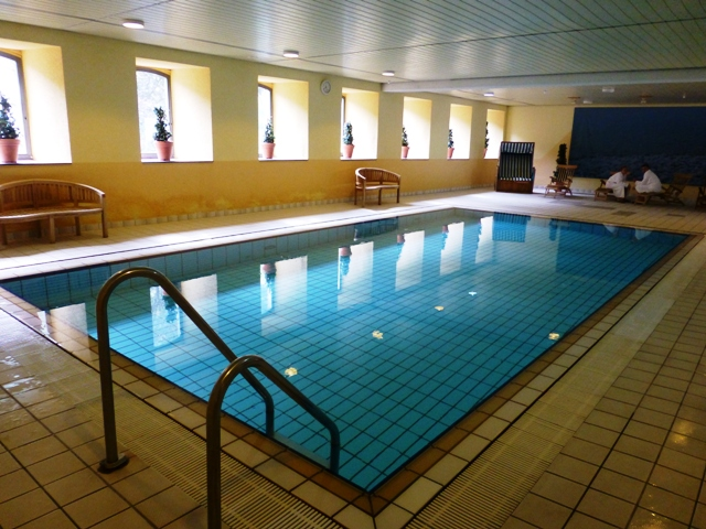 The pool in our hotel at Monschau