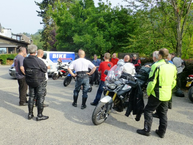 Always a morning briefing before we set off