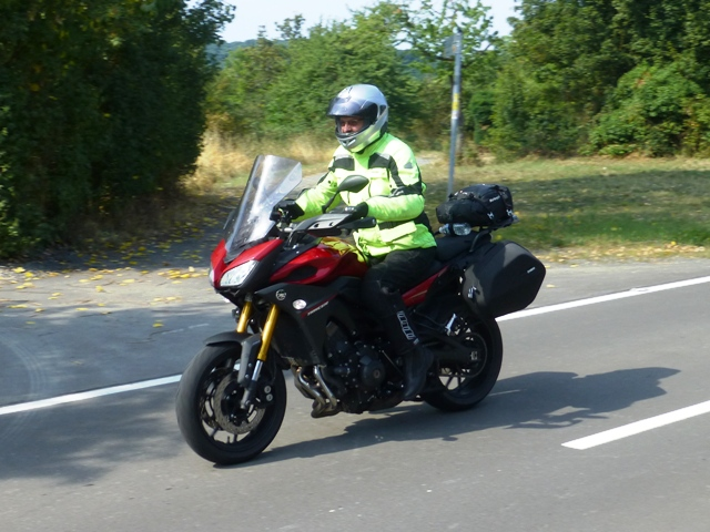 Chris on his Yamaha Tracer