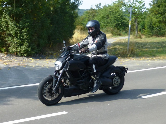Tom on his Ducati Diavel