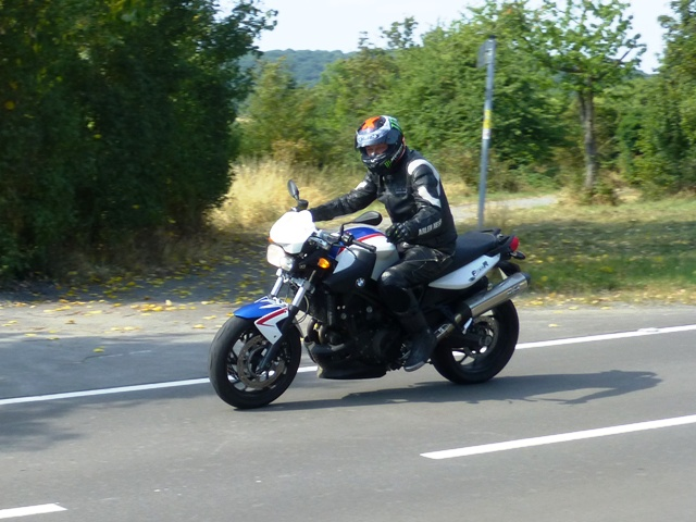 Roy on his BMW F800R
