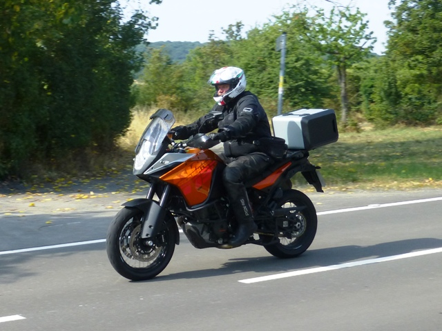 Terry on his KTM Adventure