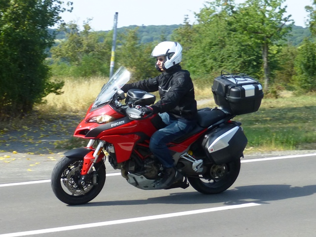 Simon on his Ducati Multistrada