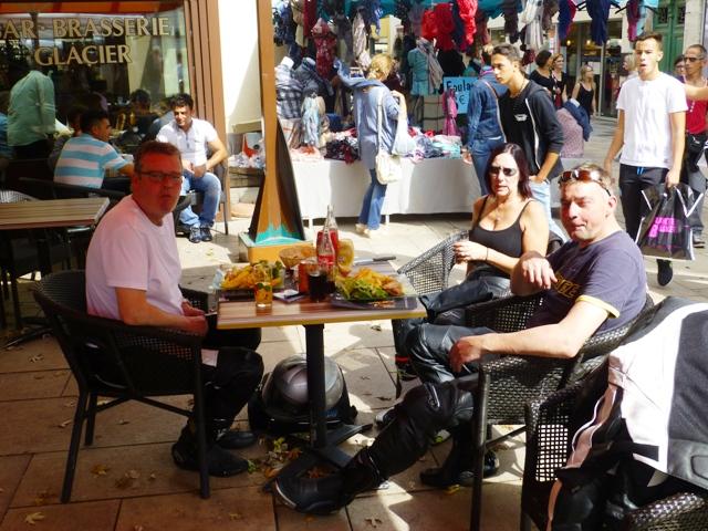 """Ducati"" Dave, Karen & Mark at lunch"