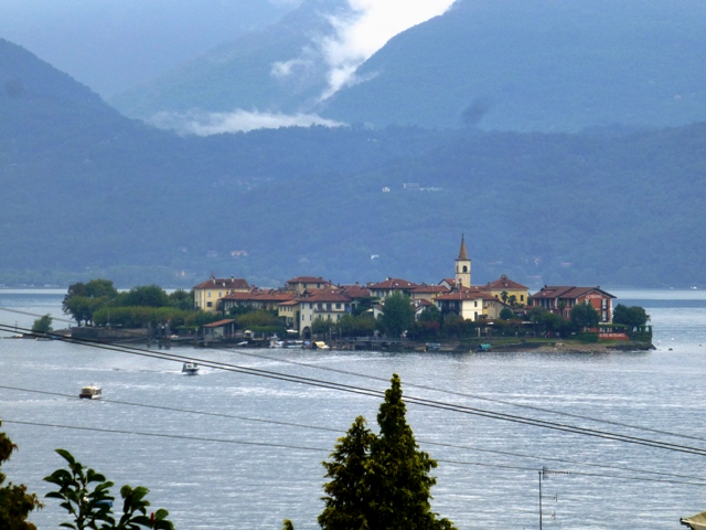 The view over lake Maggiore from our hotel
