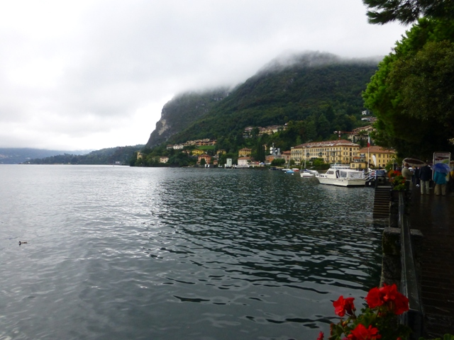 Lunch is alongside Lake Como