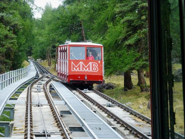 The opposite train descends