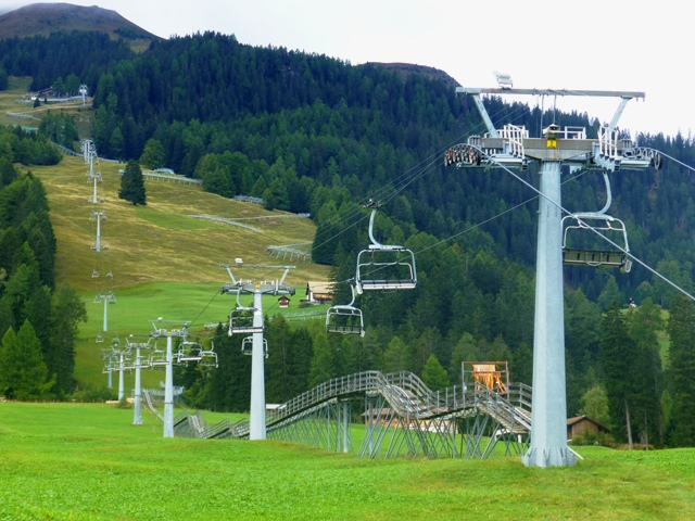 Take the ski-lift up...