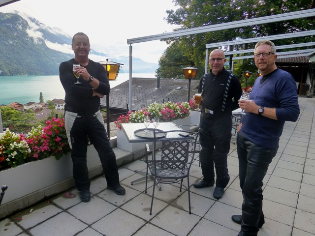 Rob, Brian & Chris on the terrace