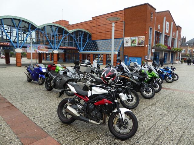 Bikes parked up at lunch stop