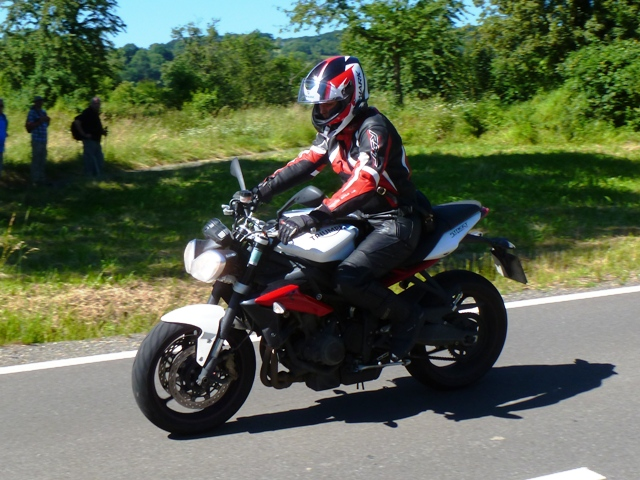 Jen leading on our Street Triple R