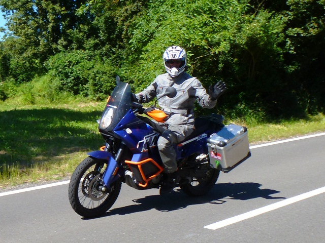 Adey on his KTM 990 Adventure