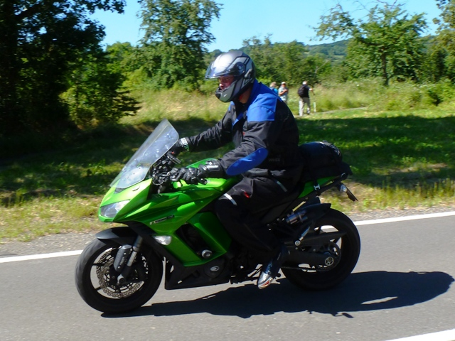 Steve on his Kawasaki Z1000SX