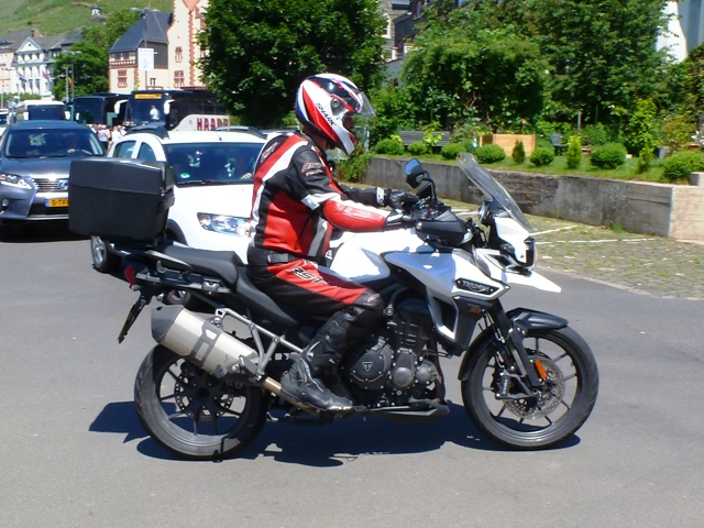 Frazer on his Triumph Explorer