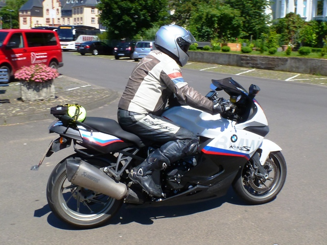 Nigel on his BMW K1300S Motorsport