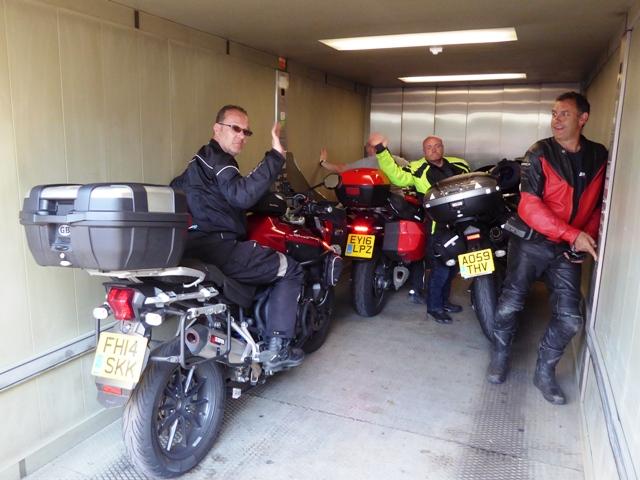 Bikes take the lift down !