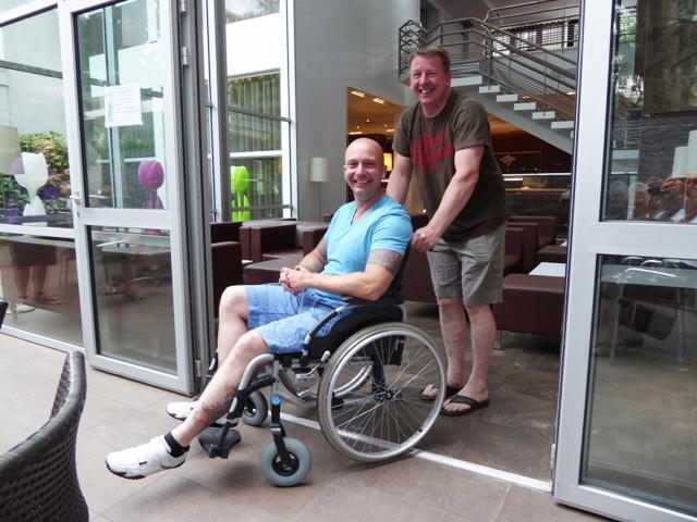 When in Lourdes!!! Matt still has a bad knee!