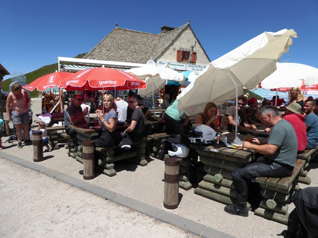 Lunch on top of the Puy Mary