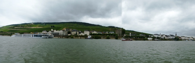 Cruise ship moored at Rudesheim