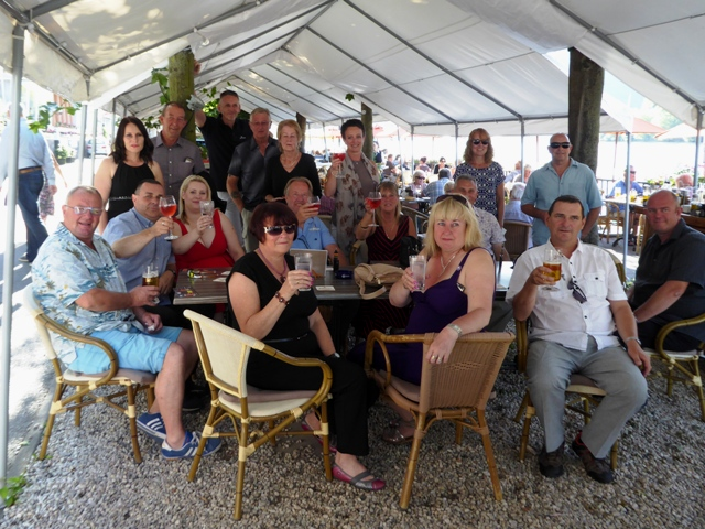 Oakley MC & other guests get together in memory of John Sedgwick - recently deceased