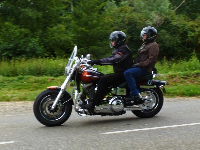 Malcolm & Kari on their Harley Fat Bob CVO