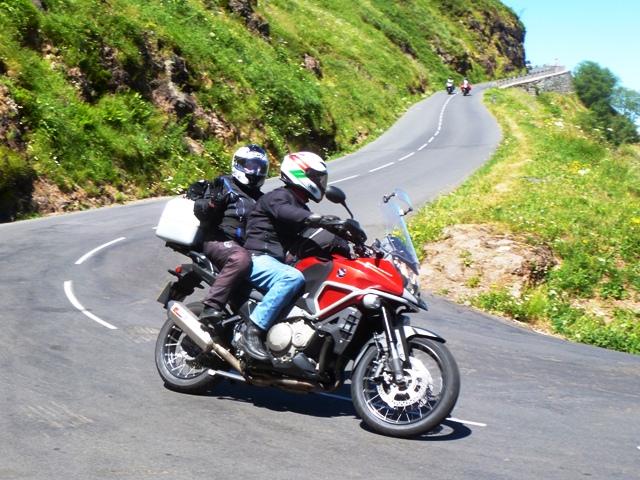Gordon & Alison on their Honda Cross Tourer