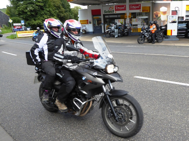 Steve & Mercie on their BMW F700GS