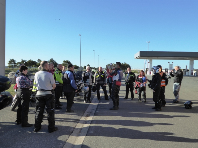 We start with a pre-tour briefing at Calais