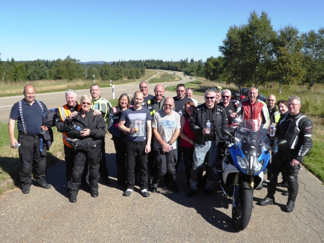 The Group at the end of the B500 - a great bunch of people made for a brilliant tour